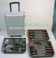 professional heavy duty aluminum tool trolley case with handle and lockable