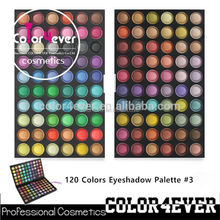 120 palette eyeshadow ;Best price test certification and printing logo eyeshadow shiner