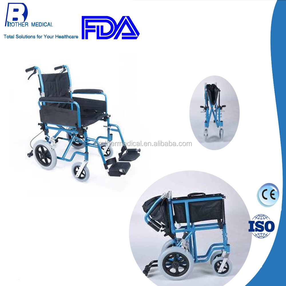 Aluminum Transit Wheel Chair /medical device /China wheelchair spplier/helth care for adult--delivery within 10days