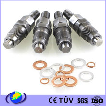 high precision machined steel diesel fuel injection injector nozzle aeration parts