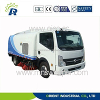 High pressure industrial street sweeper OR5074 diesel street sweeping truck