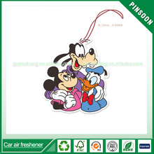 Lovely family of mickey custom paper tags hanging car freshener