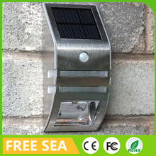 Wholesale Waterproof 2 LEDs PIR Motion Senser Wireless Solar Power Outdoor Wall Lamp For Garden Pathway Decoration