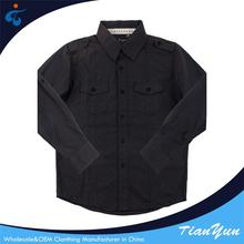 Custom oem Wholesale poplin solid boys fancy shirts