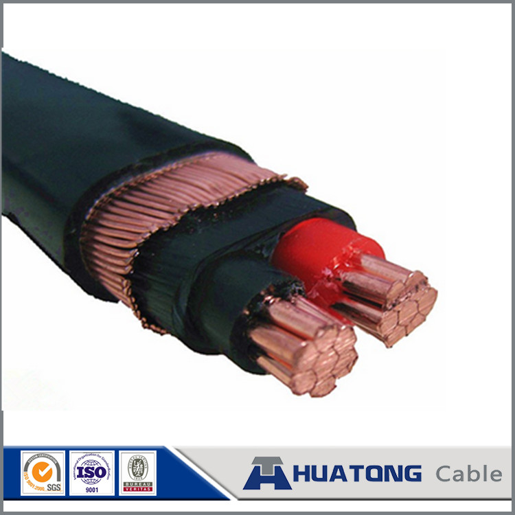 XLPE PVC PE insulation aluminum / copper shield 2 core 10mm2 concentric cable