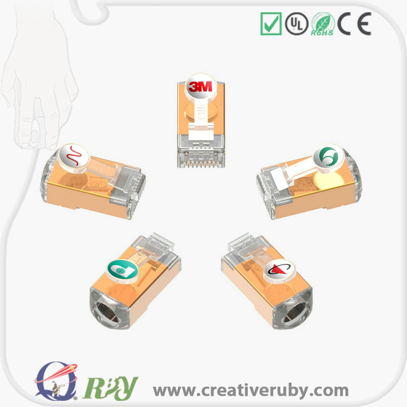 Seeking powful agent for credit sale well reputation gold plating 8p8c Network RJ45 plug for CAT5E CAT6 CAT6A CAT7