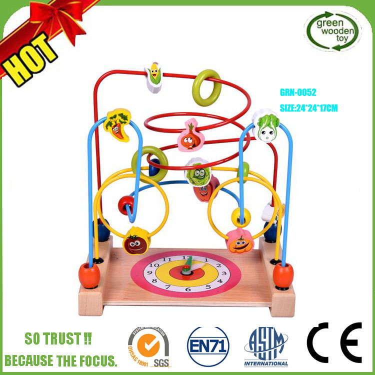 2017 Mini Around Beads Wire Maze Educational Game,Labyrinth kid wooden bead maze ,Wholesale Wooden Bead Maze toy