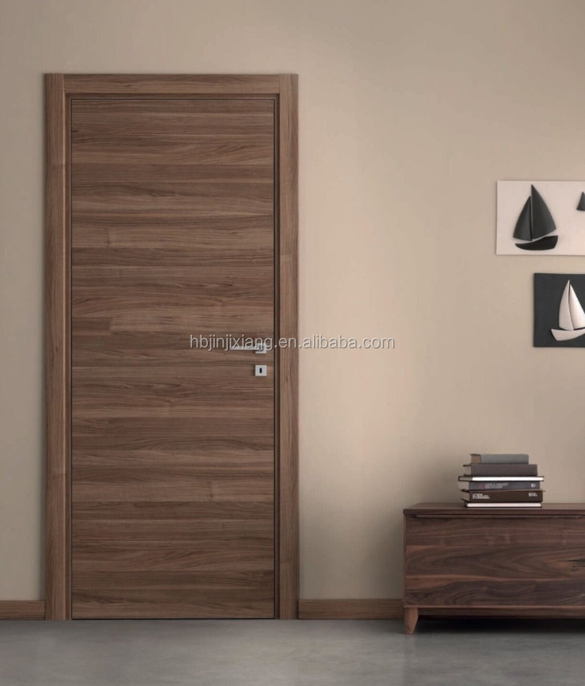 Walnut veneered room door interior wooden doors