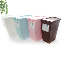 colorful wholesale plastic trash cans/ kitchen waste bin
