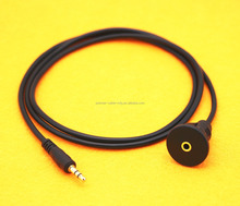 Flush Mount 3.5mm female auxiliary cable