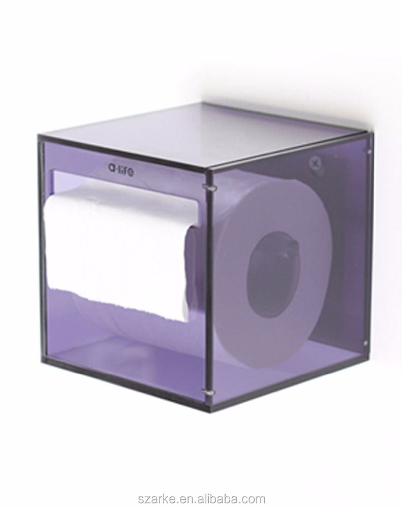 Wall Mounted Acrylic Bathroom Hotel Napkin Holder Tissue Box