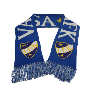 cheap knit football team fan scarf polyester for sale