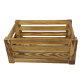 FSC&BSCI handmade burnt charred pine gift wooden crate for sale