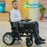 Showgood cheap electric folding Lightweight wheelchair