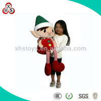 custom talking christmas gift plush elf toy