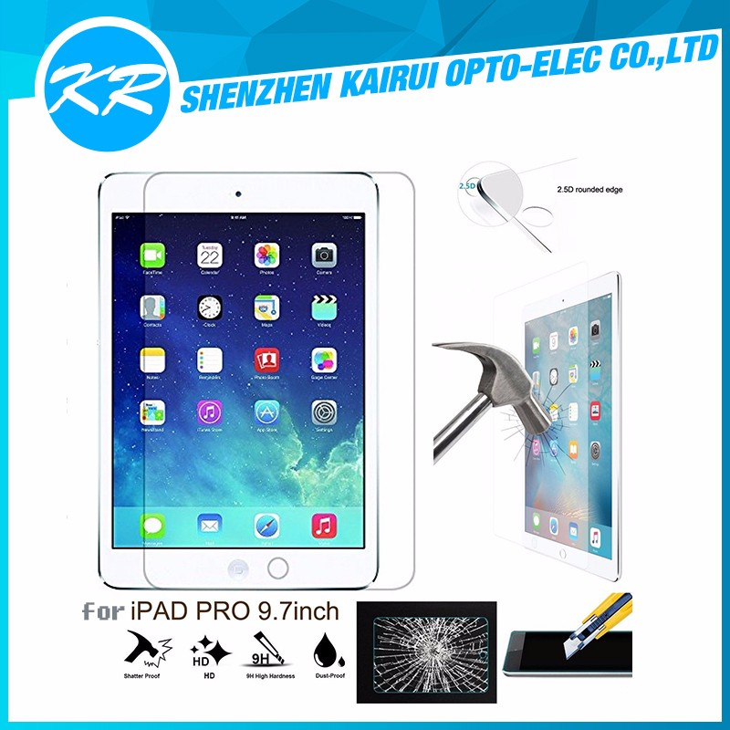 Factory supply !!! 9H High Clear 0.2mm Ultra Thin 2.5D Round Edge Anti Blue Light tempered glass Screen Protector For Ipad AIR