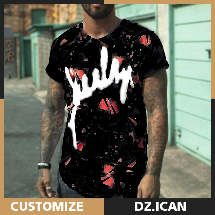 Guangzhou Curved Hem Hip Hop Men Brand Bulk Buy Clothing