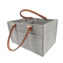 Foldable felt baby diaper caddy organizer in size 15&quot;<strong>X10</strong>&quot;X7&quot;