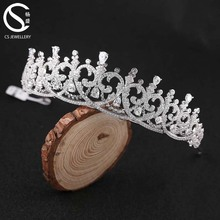 Hot Selling Fashion Hair Accessories Crystal Bridal Tiara Wedding
