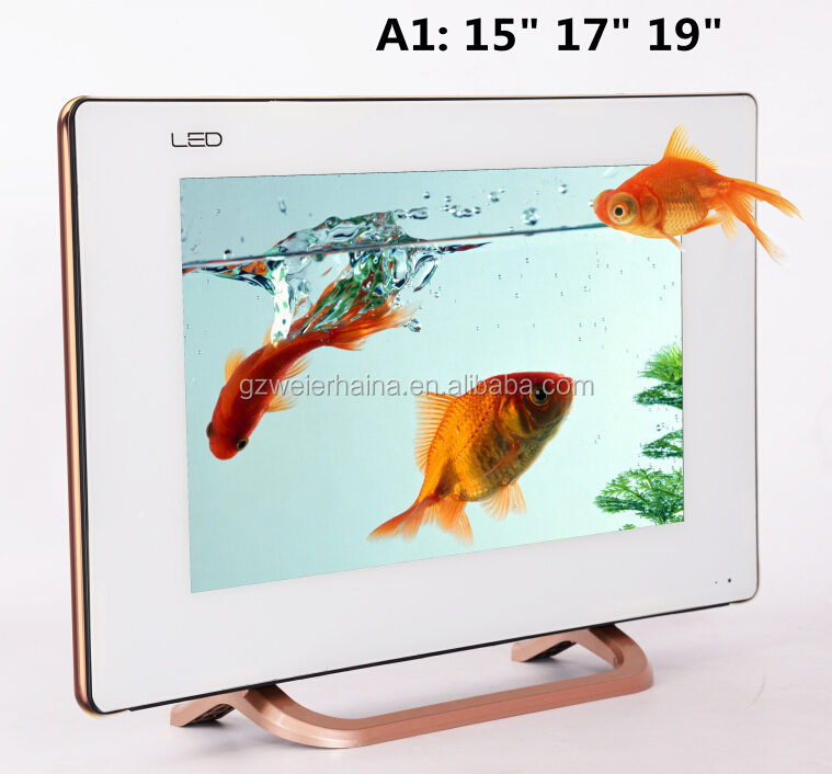 New glass model easily assemble 17 inch low price led tv