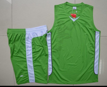 2014 new design wholesale polyester basketball uniform