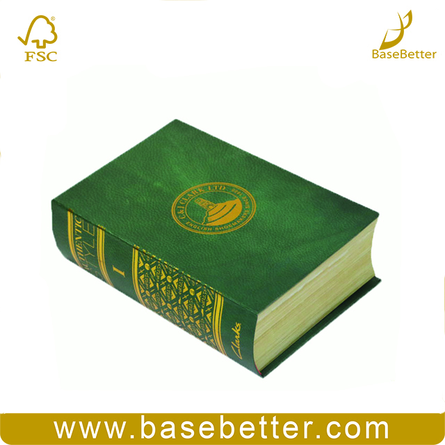 Decorative Fake Book Shaped Safe Boxes Cardboard Paper Gift Box
