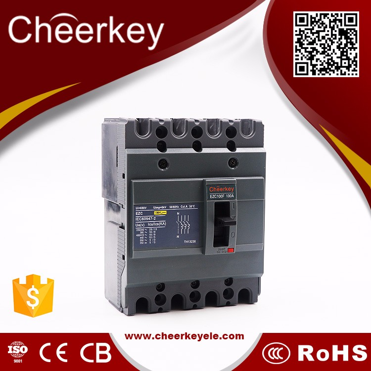 ezc breaker 160F 160A 4P electronic mold case circuit breaker ezc dc motor overload protection