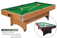 Factory manufacturer MDF+PVC cheap model pool table price for sale