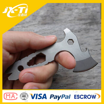 Multi functional titanium alloy camping Survival tool , customized edc gear