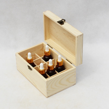 Cheap customized wooden essential oil bottle storage boxes