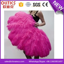 Wholesalel dyed colors large fluffy ostrich feather fan