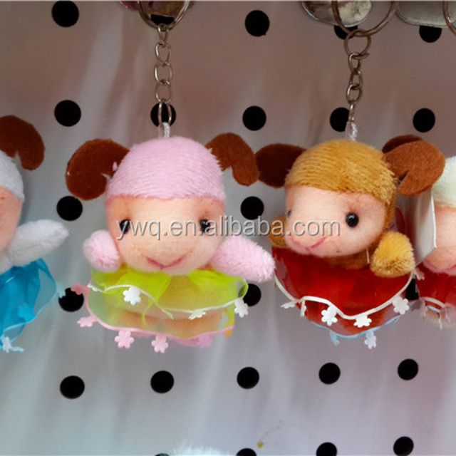 Hot sale Customed small keychains Sheep toys /sheep keychains /keychains of stuffed plush