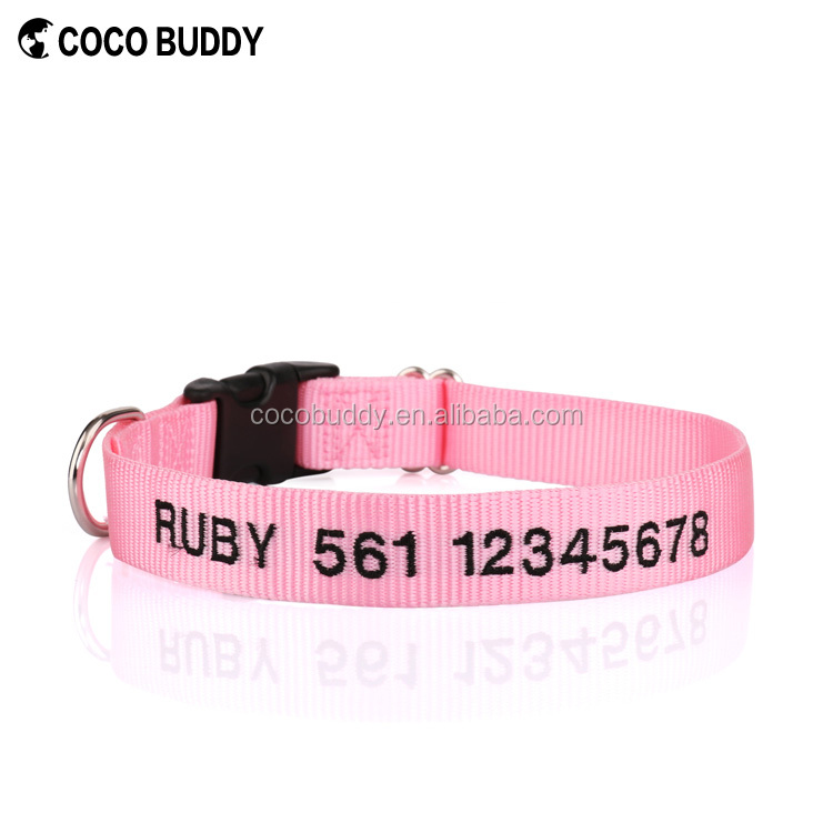 Innovative Pet Accessories Products For Import Custom Embroidery ID Dog Collars and Leash