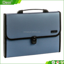 2015 hot new products in Alibaba high-quality pp plastic oxford fabric expanding file bag