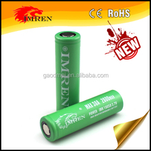 Hot sell in stock IMREN 2600MAH 38A 18650 LI_ION GREEN BATTERY with compatitive price