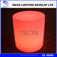 Comfortable illuminated round stools for party/events/wedding