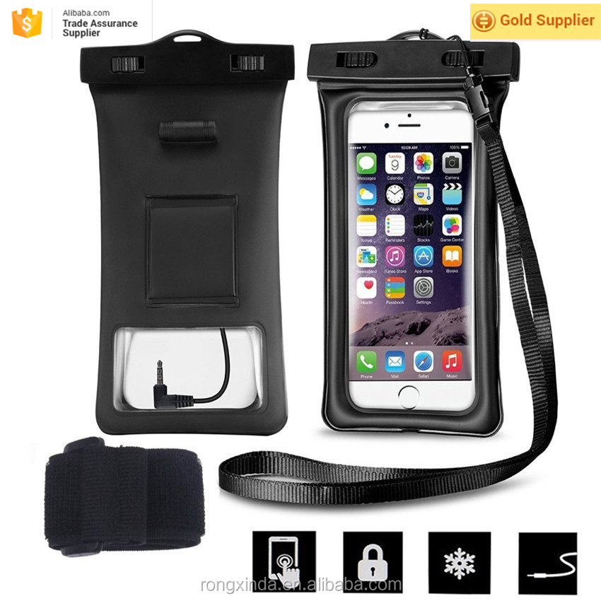 Alibaba express hot waterproof Case for Samsung Galaxy S7 Cell Phone Waterproof bag with earphone for iphone 7 for iPhone 6