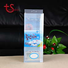 Hot sale clear vinyl printed small plastic cosmetic package box