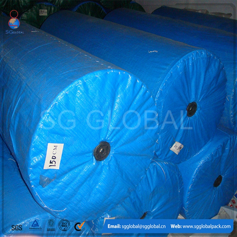 China customized UV protected waterproof coated PE tarpaulin fabric