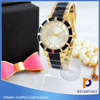 Two tone wrist custom design women watch distributors and wholesalers
