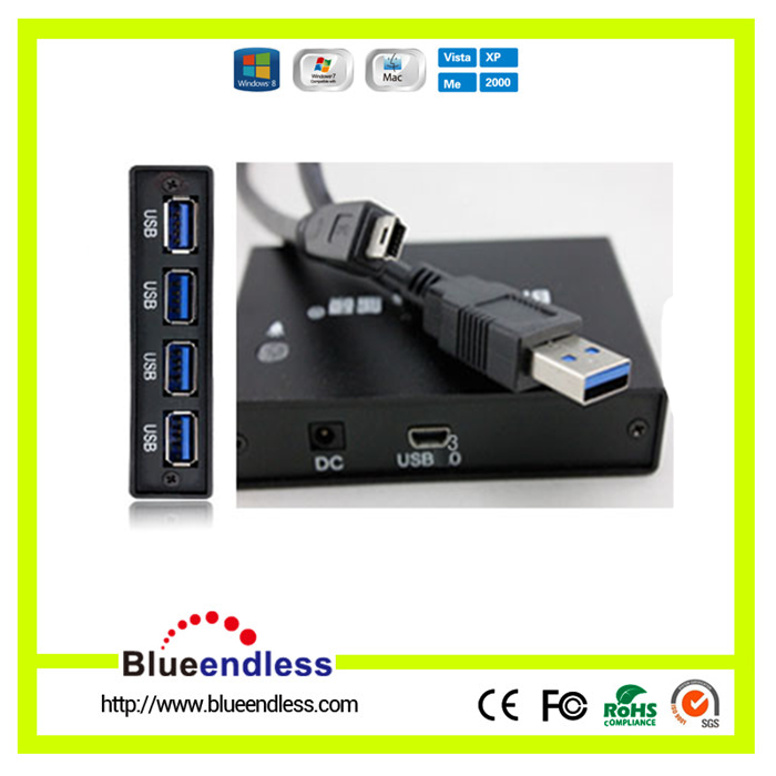 High Speed for PC Computer Laptop Notebook Peripherals Accessories With Power InterfaceThin 4 Port USB charging 3.0 HUB