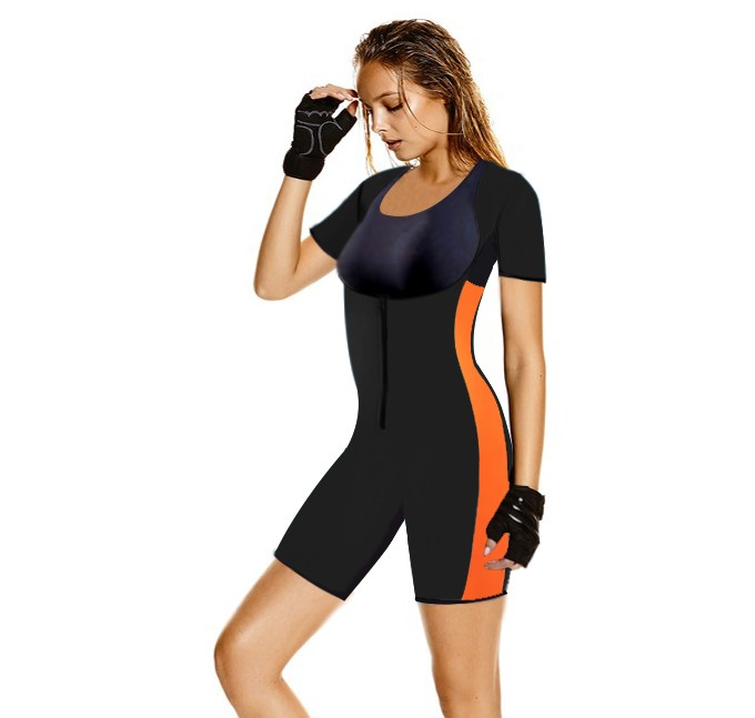 Women neoprene waist trainer sweat sauna full body shaper bodysuit for weight loss