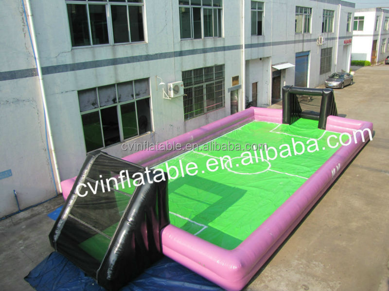 Adults inflatable soap soccer field, inflatable portable football pitch, inflatable soccer sport arena field factory price