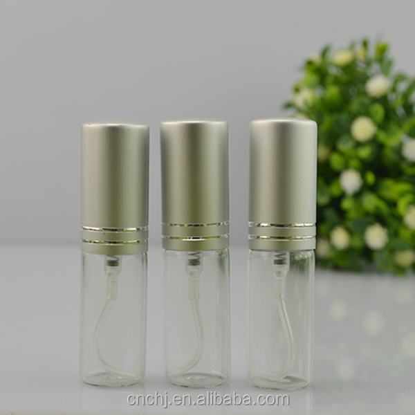 5ml clear tube glass spray perfume bottle for sale