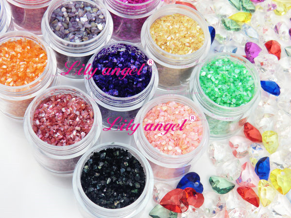 12 Color new beauty products make up nail acrylic powder clear