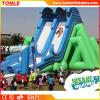 giant Insane Inflatable 5K slide for kids and adults