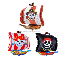 Inflatable Halloweens New Corsair Design Pirate Ship Shaped Foil Helium Balloon For Halloween