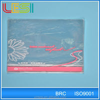 xiamen lesi factory food grade printed opp bottom gusset plastic bread bag for export