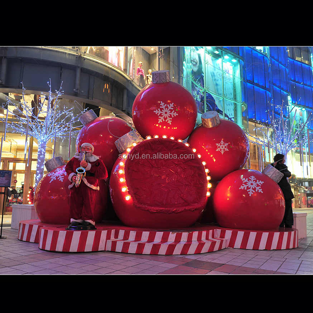 outdoor new outdoor christmas decorations 2016 fiberglass ball - Fiberglass Christmas Decorations