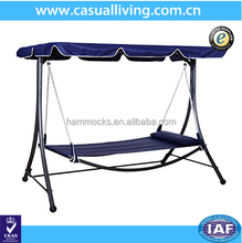 Home and garden hammock bed single patio hanging swing bed with canopy
